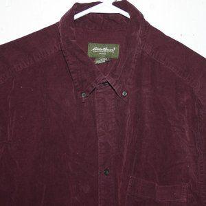 Eddie bauer corduroy mens shirt size XL T J691
